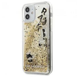 Karl Lagerfeld puzdro na iPhone 12 mini, KLHCP12SROGO zlatá