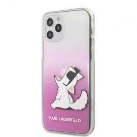 Karl Lagerfeld puzdro na iPhone 12, iPhone 12 Pro KLHCP12MCFNRCPI ružová