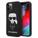 Karl Lagerfeld puzdro na iPhone 12/12 Pro, KLHCP12MSLFKBK
