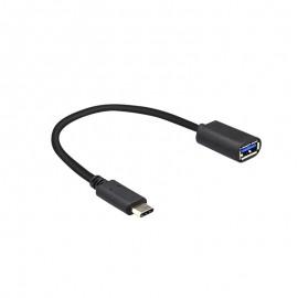 OTG adaptér USB-C čierny, 0,2 m, 3A