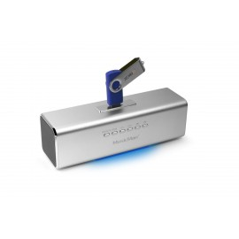 Technaxx MusicMan prenosný reproduktor 600mAh FM, USB, strieborný