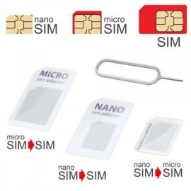 mobilNET SIM adaptér 3v1 (nanoSIM.microSIM.SIM) biela