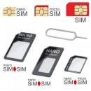 mobilNET SIM adaptér 3v1 (nanoSIM.microSIM.SIM) čierny
