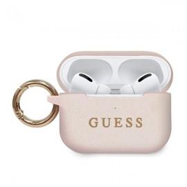 Guess puzdro na Apple AirPods Pro, Silicone Glitter, ružová