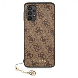 Guess puzdro na Samsung Galaxy A32 5G A326 4G, Charms Collection, hnedá