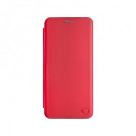 mobilNET knižkové puzdro Motorola G100, červená Lichi