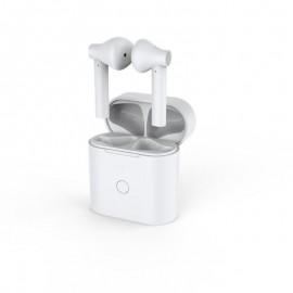 QCY-T7 bezdrôtové Bluetooth slúchladlá s dobíjacim boxom, biele
