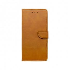 mobilNET knižkové puzdro Samsung Galaxy A22 5G, hnedá, Merlin