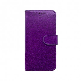 mobilNET knižkové puzdro iPhone 13 Pro, fialová, Spark