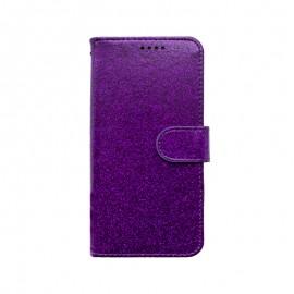 mobilNET knižkové puzdro iPhone 13 Mini, fialová, Spark