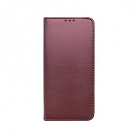 mobilNET knižkové puzdro Samsung Galaxy A22 4G, bordová, Smart