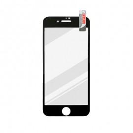 mobilNET ochranné sklo iPhone SE 2020, čierne, FULL GLUE 0.33mm, Q sklo