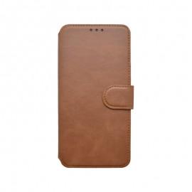 mobilNET knižkové puzdro 2020 pre Xiaomi Redmi Note 9, hnedá