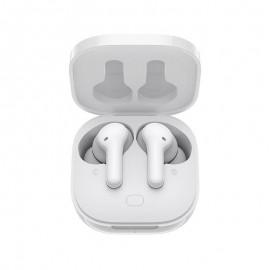 QCY-T13 bezdrôtové Bluetooth slúchadlá s dobíjacím boxom, biele