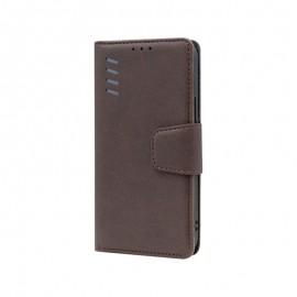 mobilNET knižkové puzdro Samsung Galaxy A12, hnedá Daze