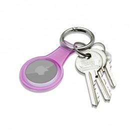 mobilNET gumená kľúčenka, AirTag, ružová