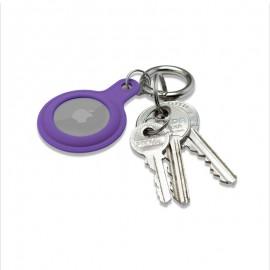 mobilNET gumená kľúčenka, AirTag, fialová