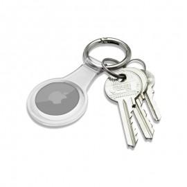 mobilNET gumená kľúčenka, AirTag, biela