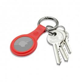 mobilNET gumená kľúčenka, AirTag, červená