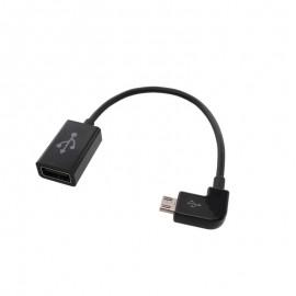 OTG adaptér micro USB čierny, lomený