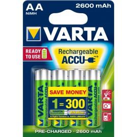 Varta Rechargeable Accu 4 AA 2600mAh R2U