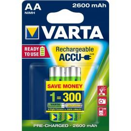 Varta Rechargeable Accu 2 AA 2600mAh R2U