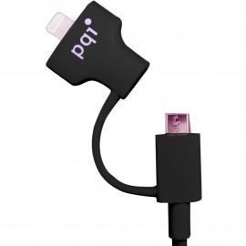 PQI i-Cable Du-Plug 90 Black