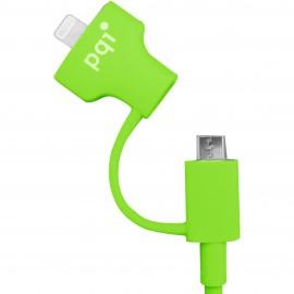PQI i-Cable Du-Plug 90 Green