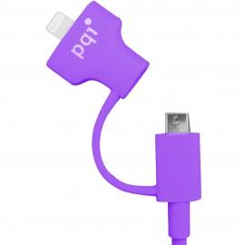 PQI i-Cable Du-Plug 90 Purple