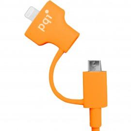 PQI i-Cable Du-Plug 90 Orange