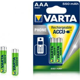 Varta Rechargeable Accu Phone AAA 550 mAh 2x