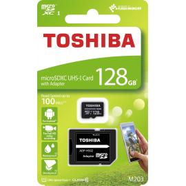 Toshiba micro SDXC 128GB UHS-I M203 + adaptér