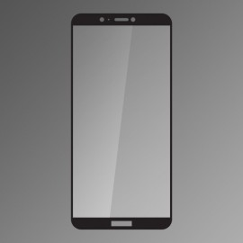 Ochranné sklo Q sklo Huawei P Smart čierne, fullcover, 0,33 mm