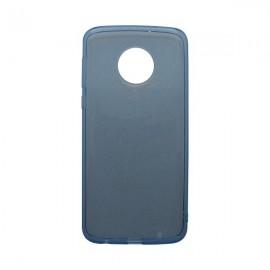 Silikónové puzdro Crystal Moto G6 Plus modré