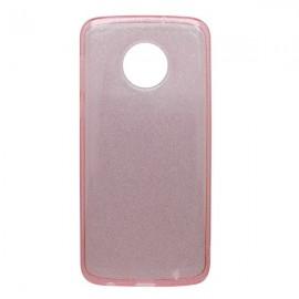 Silikónové puzdro Crystal Moto E5 ružové, nelepivé