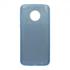 Silikónové puzdro Crystal Moto E5 modré, nelepivé