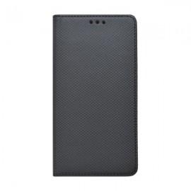 Bočné knižkové puzdro iPhone XR čierne, vzorovaný povrch