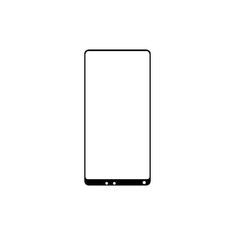 Ochranné Q sklo Xiaomi Mi Mix 2S čierne, fullcover