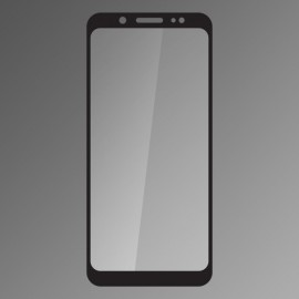 Ochranné sklo Samsung Galaxy A6 Plus čierne, fullcover, 0.33mm Qsklo