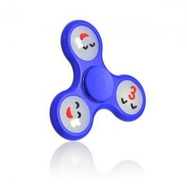 Fidget Spinner fosforeskujúce tváre plastový modrý