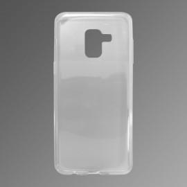Gumené puzdro Samsung Galaxy A8 2018 priehľadné, nelepivé