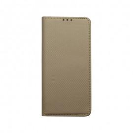 Bočné knižkové puzdro Samsung Galaxy S10 Plus zlaté, vzorované