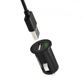 Autonabíjačka na mobil USB 1A čierna, kábel micro USB 1,5 m
