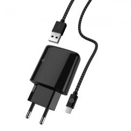 Sturdo sieťová nabíjačka na iPhone s MFi káblom čierna 1.8 m