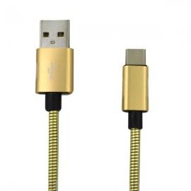 Kábel USB typ C 2A 1m zlatý