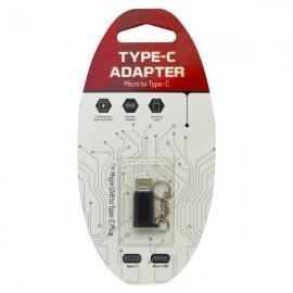 Adaptér micro USB na USB typ C čierny