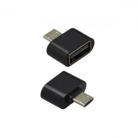 OTG adaptér micro USB / USB čierny