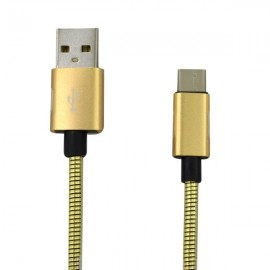 Kábel micro USB 2A 1m zlatý