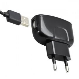 Sieťová nabíjačka na mobil, USB typ C, čierna, 2A