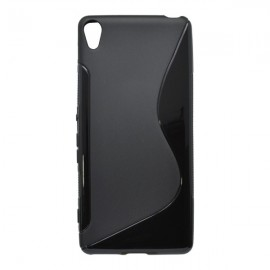 Gumené puzdro / obal S-Line Sony Xperia XA, čierne
